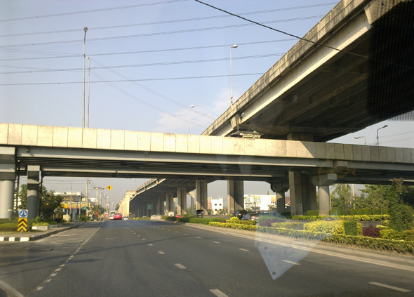 Elevated toll highways in Bangkok