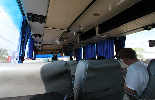 Inside the bus to Kanchanaburi