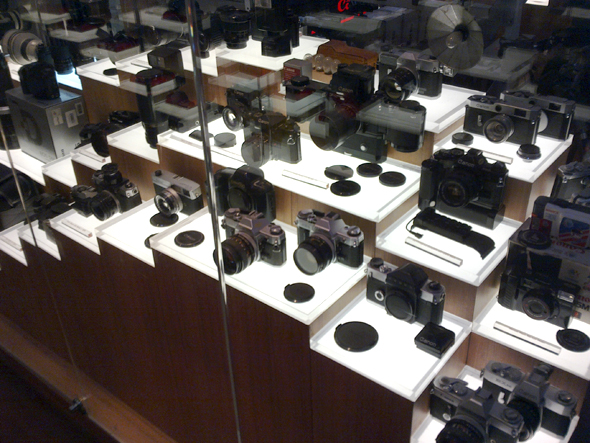 Old Canon camera on display at the Canon store in MBK