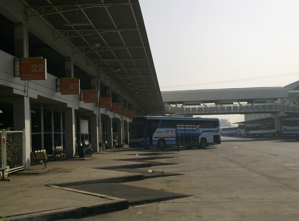 Southern Bus terminal where both state and private buses ply