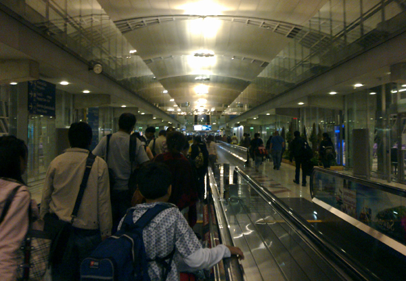 Moving walkways at Suvarnabhumi Airport