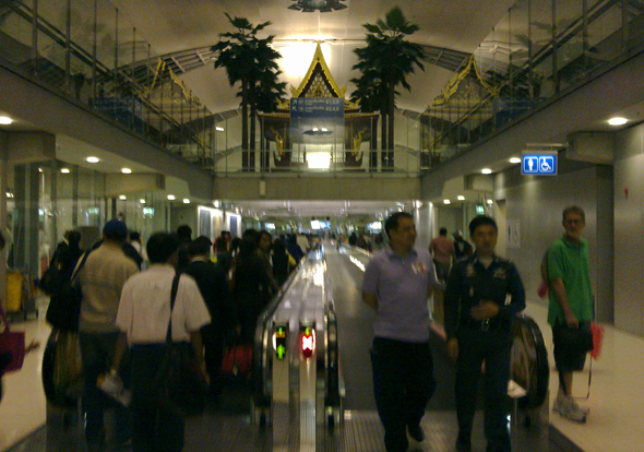 Arriving at Suvarnabhumi Airport, Bangkok