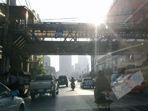 Early morning traffic in Bangkok