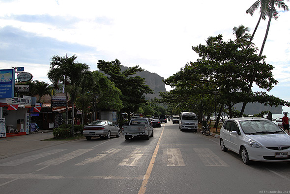 Ao Nang beach road