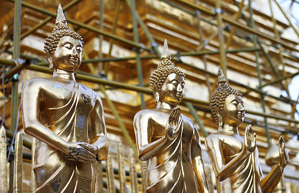 Buddha statues at Doi Suthep, Chiang Mai