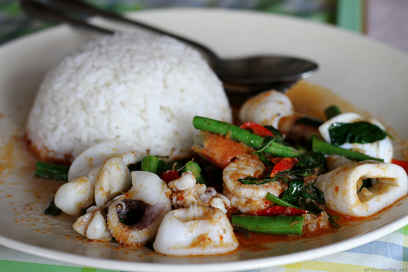 Sea food Thai curry & rice