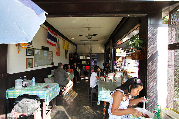 A small restaurant in Chiang Mai