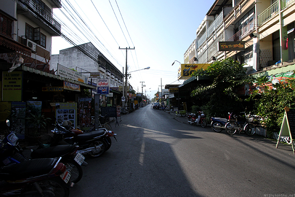 A small road in Chiang Mai