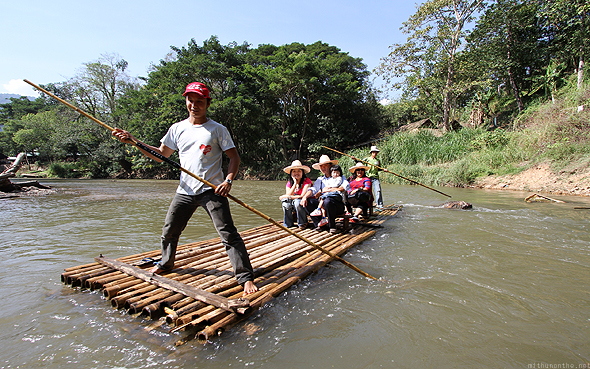 Bamboo rafting at Maesa