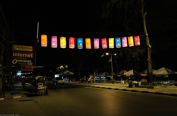 Patong beach at night