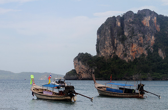 Railay beach boats
