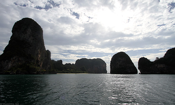 Railay hills sea