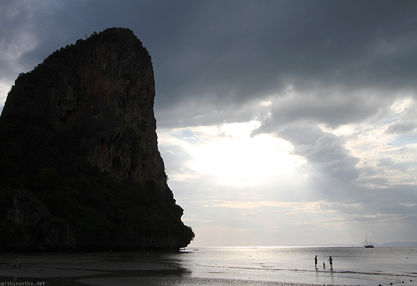 Railay West beach sunset