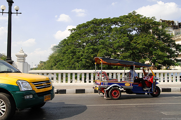 Bangkok city bridge Tuk Tuk