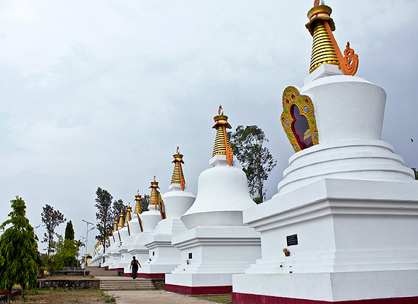 Bylakuppe temple pagodas