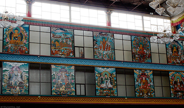 Bylakuppe Golden temple window painting