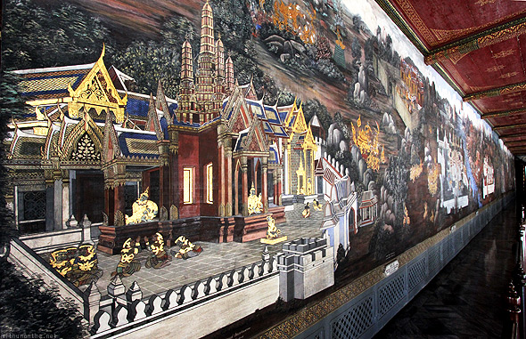 Grand Palace Bangkok Thailand wall painting