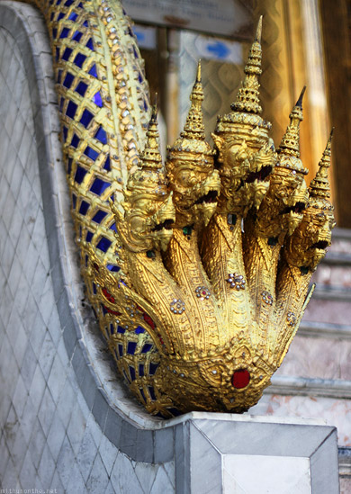 Grand Palace Thailand dragon hand