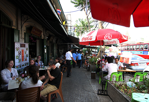 Old Bangkok City street cafe