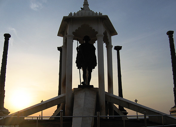 Pondicherry Gandhi statue