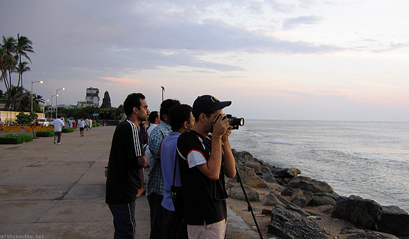 Pondicherry photographing sunrise