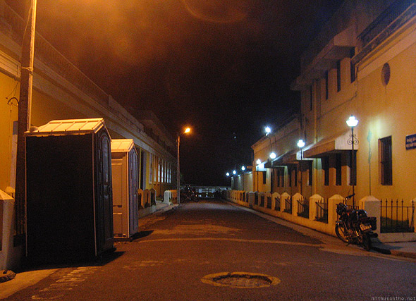 Pondicherry street night
