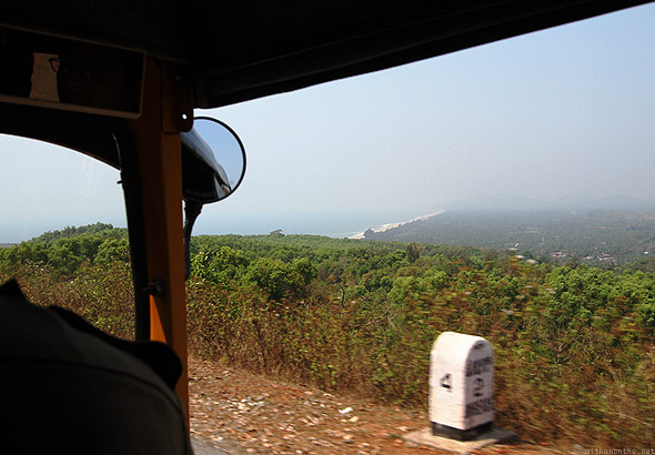 Gokarna beach auto ride to Kudle