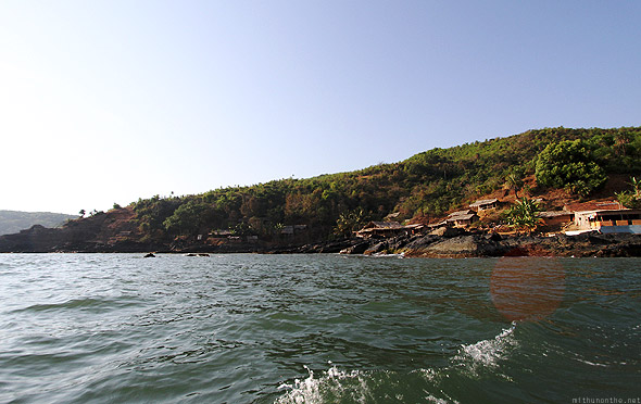 Gokarna from boat taxi