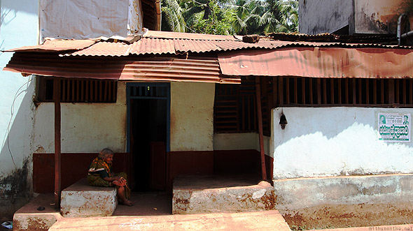 Gokarna town old woman house