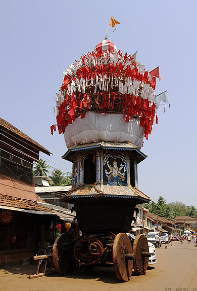 Gokarna town temple float