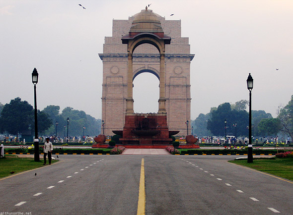 India Gate road New Delhi monument