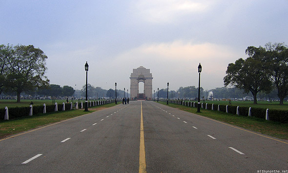 India Gate road New Delhi