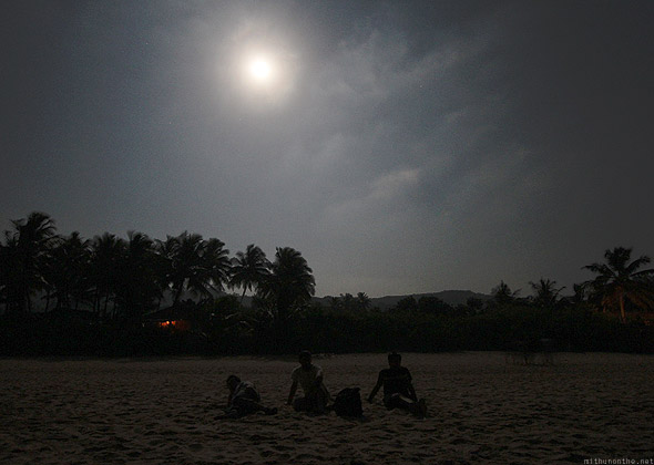 Kudle beach Gokarna full moon