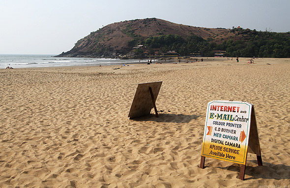 Kudle beach Gokarna internet cafe