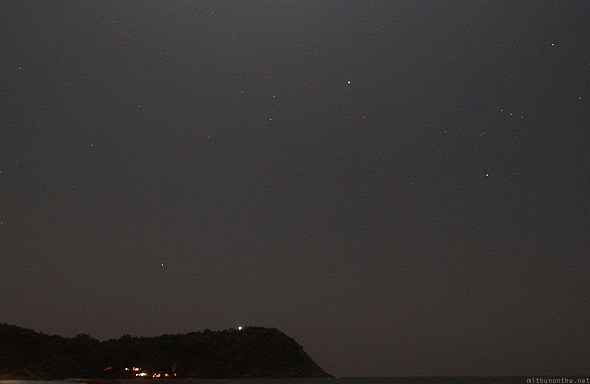 Kudle beach Gokarna starry night