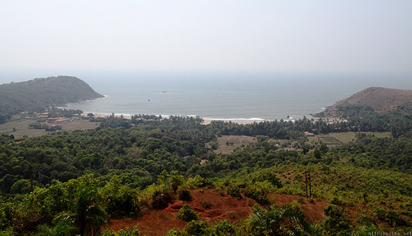Kudle beach panoramic view