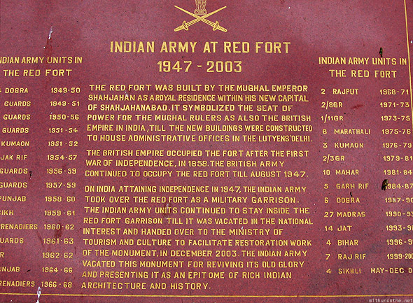 Red Fort Delhi Indian army stone