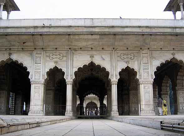 Red fort Khas Mahal marble