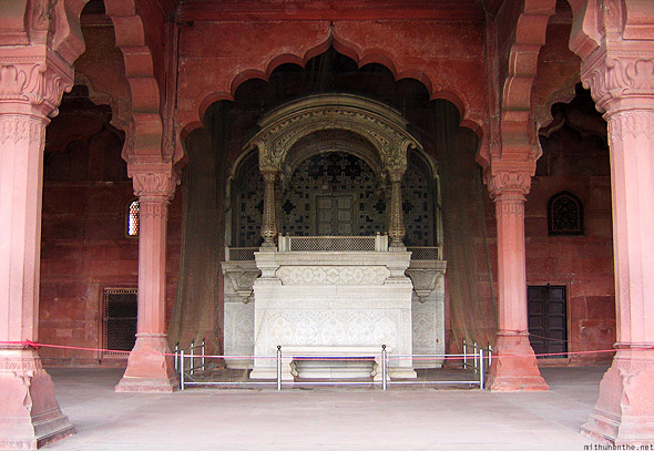 Red fort Khas Mahal monument