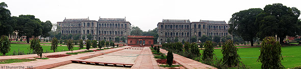 Red fort panorama New Delhi
