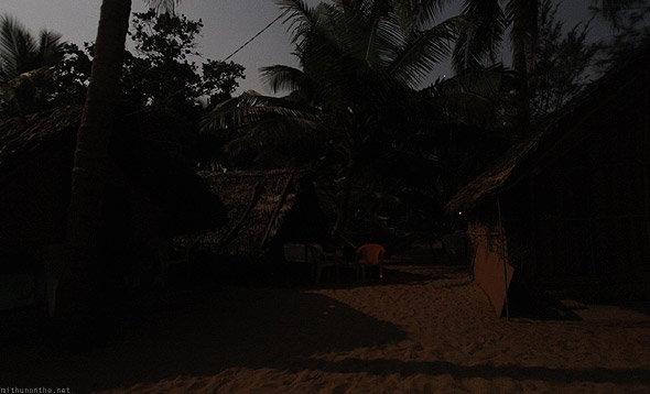 Sunset cafe Kudle beach shacks
