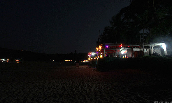 Sunset cafe Kudle beach Gokarna night