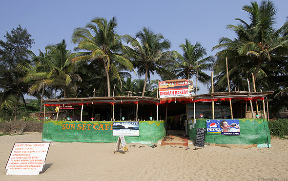 Sunset cafe Kudle beach Gokarna