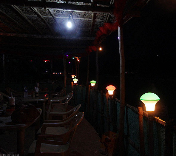 Sunset cafe Kudle beach Gokarna lights