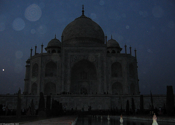 Taj Mahal Agra evening