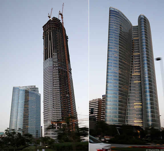 Abu Dhabi corniche office buildings