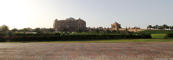 Abu Dhabi Emirates Palace wide shot