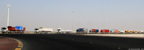 Abu Dhabi to Dubai trucks highways