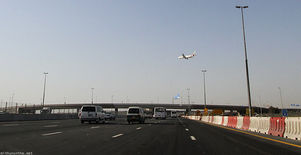 Dubai Emirates road airplane