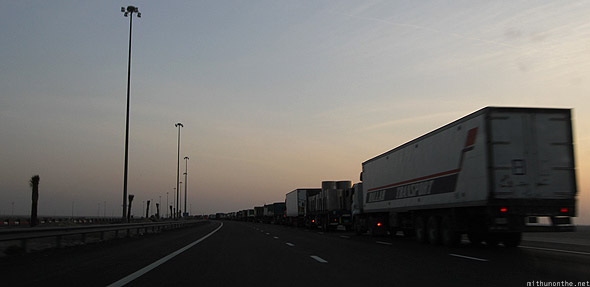Dubai Emirates trucks highway